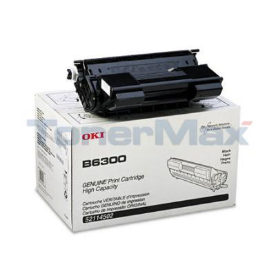 OKIDATA B6300 TONER CARTRIDGE BLACK 17K